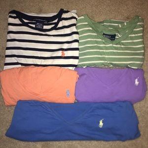 Five Polo Ralph Lauren Shirts